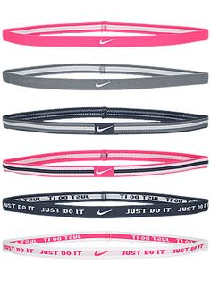 Nike Sport Hairbands 6-Pack Grey/Pink