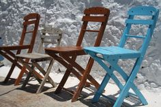 One of those seats has my name on it! Greek Islands, Folding Chair, Rhodes, World Traveler, Rhode Island, Repeat, Greece, Sleep, Places