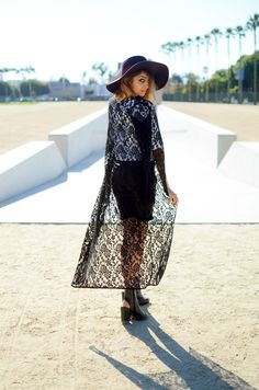 Lace Jackets  #fallfashion #bloggerchallenge #beverlycenter #houseofharlow #nicolerichie #fallhats #lacecaridgan