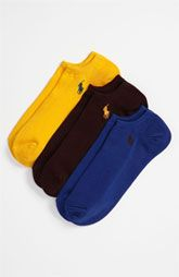 Polo Ralph Lauren No-Show Socks (3-Pack)