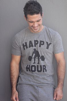 ddf4729022b5fc Mens T-shirt - Happy Hour - Mens Apparel - Fitness Inspired apparel for the  gym