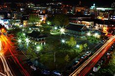 웅부공원 야경(2012년)
