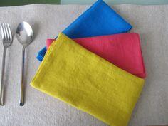 Cotton Napkins, Linen Napkins, Cloth Napkins, Party Napkins, Napkins Set, Child Face, Modern Table, Primary Colors, Yellow
