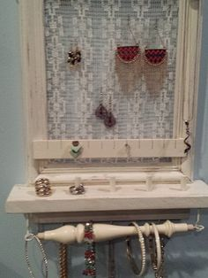 New Ideas Jewerly Organizer Vanity Lights Jewelry Holder Wall, Jewelry Boxes For Sale, Wall Mount Jewelry Organizer, Jewelry Wall, Hanging Jewelry Organizer, Wall Organization, Jewelry Organization, Bridal Shower Gifts, Bridal Gifts