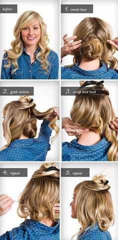 How To Make Long Hair Short: Faux Bob Hair Tutorials   Pretty Designs. Find  This Pin And More On Christmas Party Hairstyles ...