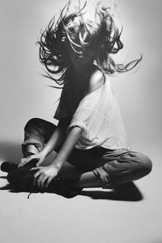 hair, black and white, photography