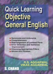 Quick Learning Objective General English by R.S Aggarwal