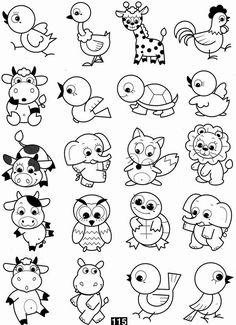Doodle Drawings, Cartoon Drawings, Animal Drawings, Doodle Art, Easy Drawings For Kids, Drawing For Kids, Art For Kids, Colouring Pages, Coloring Books