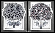 Saphiriart on instagram - tree of life and death
