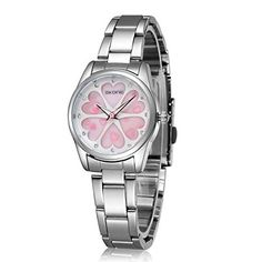 Ladies Water-Resistant Stainless Steel Wrist Watch for Women - Female Rose Gold, Silver … Fashion Watches, Women's Watches, Wrist Watches, Expensive Gifts, High Jewelry, Stainless Steel Watch, Quartz Watch, Watch Bands, Bracelet Watch