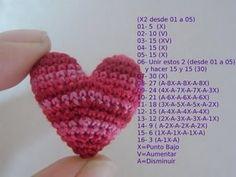 de Corazon Crochet Heart - Hope I can figure it out!Crochet Heart - Hope I can figure it out! Crochet Diy, Love Crochet, Learn To Crochet, Crochet Motif, Crochet Dolls, Crochet Crafts, Crochet Flowers, Crochet Stitches, Crochet Patterns