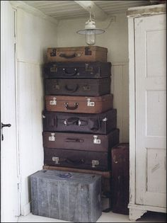 Suitcases by the stack...love