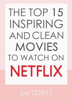 Mar 2020 - It can be challenging to sift through the garbage on TV to find something clean that leaves you feeling inspired and entertained. I hope my recommended top 15 inspiring and clean movies to watch on Netflix will help! Netflix Family Movies, Top Netflix Series, Netflix Shows To Watch, Good Movies On Netflix, Kid Movies, Movies 2019, Best Of Netflix, Netflix Premium, Movies Online