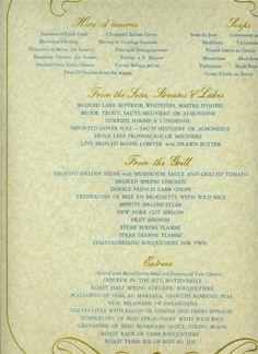 L Escoffier Restaurant Menu Beverly Hilton Hotel Beverly Hills California 1960 S