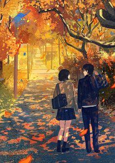 e-shuushuu kawaii and moe anime image board Anime Couples Drawings, Anime Couples Manga, Couple Drawings, Cute Anime Couples, Anime Guys, Cute Couple Art, Anime Love Couple, I Love Anime, Aesthetic Art