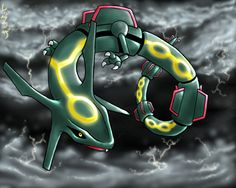 Pokemon is a media franchise which has been popular in our age, including the video games, the anime and manga series. Pokemon characters have become pop Pokemon Party, All Pokemon, Pokemon Fan, Mega Rayquaza, Charizard, Rayquaza Wallpaper, Pokemon Emerald, My Favorite Color, My Favorite Things