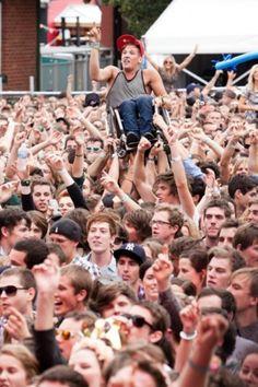 #Festivals #HandsUp #CrowdSurf #Dancing