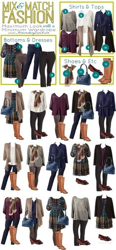 kohl's plus size mix match vertical. read more professional wardrobe - business Kohls Outfits, Mode Outfits, Fall Outfits, Casual Outfits, Fashion Outfits, Womens Fashion, Fashion Ideas, Ladies Fashion, Fashion 2017