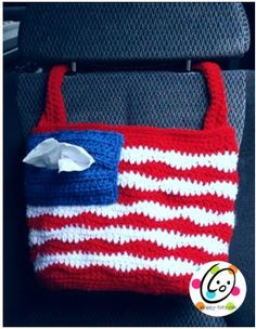 don't crochet it SEW one! -dmw American Car Tote By Heidi Yates - Free Crochet Pattern - (ravelry) Crochet Car, Crochet Tote, Crochet Handbags, Crochet Purses, Bead Crochet, Crochet Gifts, Crochet Hooks, Free Crochet, Crochet Clothes