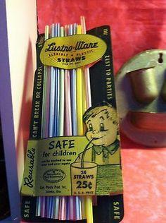 Lustro Ware Flexible Plastic straws