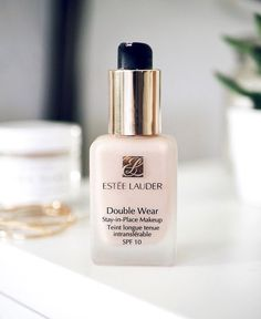 estee lauder double wear foundation, my favourite long-wear, medium to full coverage foundation. It doesn't transfer or fade throughout the day. perfect.