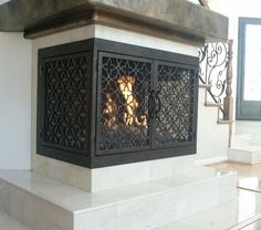 AMS Fireplace is a high-end fireplace doors company. We specialize in custom-made, wrought iron fireplace doors and gates, with over 100 styles to choose from.