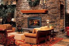 Beautiful stonework fireplace surround adds warmth and character - Rock Your Home with Stone Interior Accents - Rustic Home Interiors, Rustic Home Design, Home Interior Design, Rustic Homes, Rustic Style, Rustic Barn, Rustic Chic, Country Style, Interior Ideas