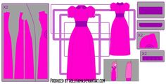 PB classic dress cosplay design draft by Hollitaima.deviantart.com on @deviantART- Leni needs a PB costume and this might just be the best pattern :)