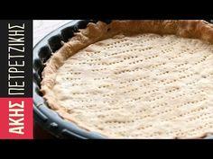 Ζύμη για αλμυρές τάρτες   Kitchen Lab by Akis Petretzikis - YouTube Pie Crust Recipes, Chef Recipes, Cooking Recipes, Tart Dough, Savory Tart, Pitta, Desert Recipes, Food And Drink, Kitchen