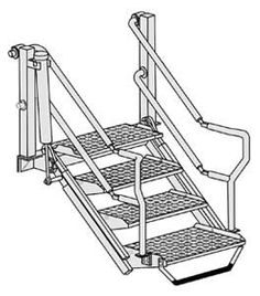 3 Step Folding Dock Step Steps For Showrooms And Boat
