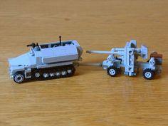 SdKfz 251 mit 88mm flak: A LEGO® creation by Henrik Hoexbroe : MOCpages.com
