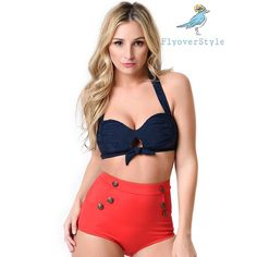Pre-Order! Vintage Style Retro High Waist Bikini This item is available for preorder: please leave a comment with your requested size and I will create a listing for you to purchase when this comes in, items will ship ASAP! ChicBirdie Swim Bikinis