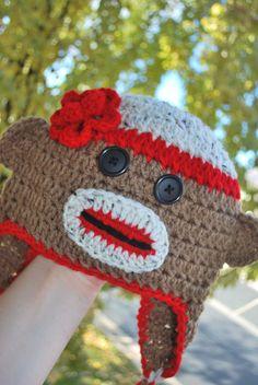 Girl's Crochet Sock Monkey Hat: https://www.outbid.com/auctions/1520#1