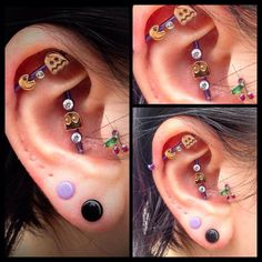amazing ear art by Miraculous Creations in Worcester! industrials tragus
