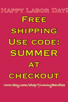 Labor Day #sale #free shipping for #LaborDay #shop #YummyBaubles #bubblegumnecklaces  www.etsy.com/shop/YummyBaubles