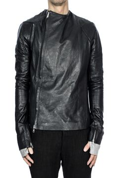 Obscur | Zip vent leather jacket