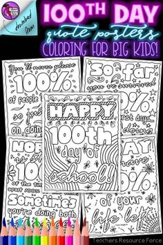 These Day Inspirational quote coloring pages are a wonderfully relaxing and motivating resource for your students to spend time celebrating the day of school whilst being inspired by some themed motivational quotes. Quote Coloring Pages, School Coloring Pages, Colouring Pages, Teacher Quotes, Teacher Humor, Teacher Resources, Teaching Ideas, Mindfulness Colouring, St Patricks Day Quotes