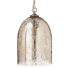Mercury Glass Bell Pendant - Silver - Threshold™ : Target