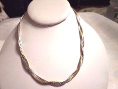 """NEW WOMEN'S 3MM-14K WHITE & YELLOW GOLD PLATED DOUBLE  FOXTAIL 18"""" CHAINS…"""