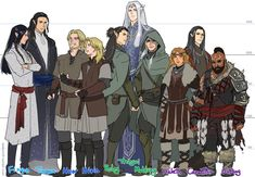 Fingon, Turgon, Huor, Hurin, Beleg, Thingol, Mablung, Haleth, Caranthir, Ulfang