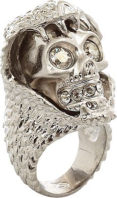 please and thank you?  SILVER TONE SNAKE AND SKULL RING, ALEXANDER MCQUEEN