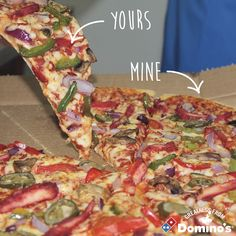 How do you share your Domino's?...