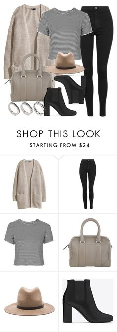 """""""Style #11077"""" by vany-alvarado ❤ liked on Polyvore featuring H&M, Topshop, Givenchy, rag & bone, Yves Saint Laurent and ASOS"""