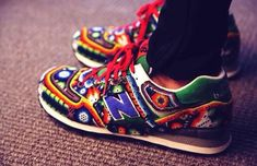 How dope are these Huichol New Balance sneakers from Ricardo Seco for S/S 2015 at NYFW? Most awesome sneakers I ever saw Cute Gym Outfits, Mode Outfits, Sport Outfits, Nb Sneakers, New Balance Sneakers, Look Fashion, Fashion Shoes, Modern Fashion, Fashion Ideas