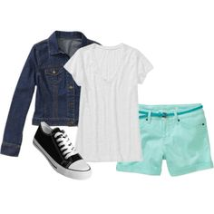 Trend Alert: Colored Denim Shorts - add basics to pastel colored shorts this #spring for a cute weekend look  $8-$16