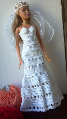 Wedding Dress for Barbie Doll by MomDaughterCraft