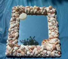 Sea Shell Mirror   Framed Mirror with by EssentialMatters on Etsy, $119.00