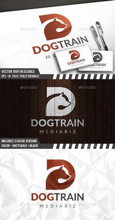 Dog D Letter Logo Template PSD, Vector EPS, AI Illustrator. Download here: https://graphicriver.net/item/dog-d-letter-logo/17411554?ref=ksioks