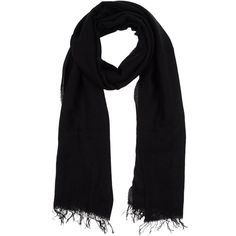 Blue Les Copains Square Scarf ($90) ❤ liked on Polyvore featuring accessories, scarves, black, black shawl, square scarves, fringe scarves, black fringed shawl and black scarves