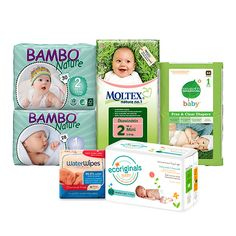 Newborn Eco Nappy Samples Pack | Bambo Nature | Moltex